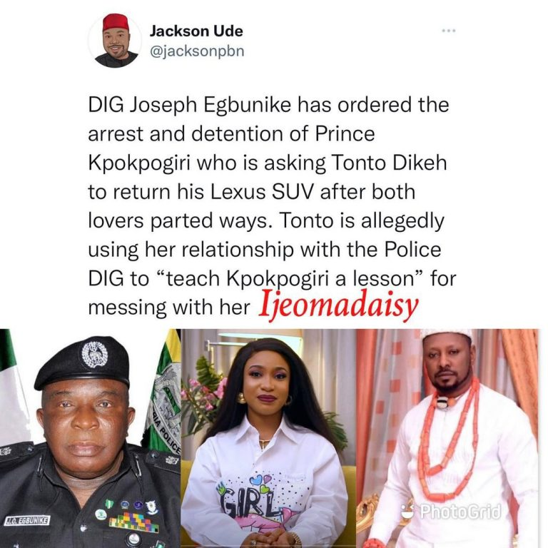 #TontoDike uses her connect to arrest Ex-lover #Kpokpogri
